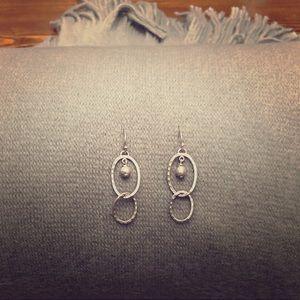 Silpada Silver Link Earrings #W1755